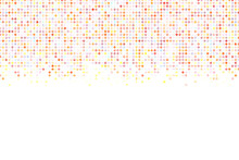 Light Multicolor Dotted Background, Colorful Vector Texture With Circles. Glitter Abstract Illustration With Blurred Drops Of Rain. Pattern For Ads, Web Page, Wallpaper, Poster, Banner. Copy Space
