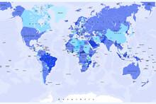 Weltkarte Modern Länder