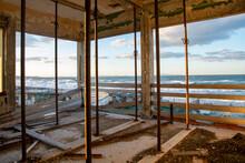 Scenic View Of Sea Seen Through Window