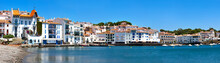 Panorama Of The Former Fishing Village Of The Beautiful City Of Cadaques In Spain