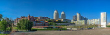 Modern Buildings In The Center Of Dnipro City In Ukraine On A Sunny Summer Day