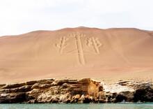 Geoglyph On The Peruvian Coast Near Paracas
