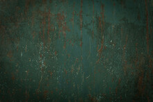 Panoramic Grunge Rusted Metal Texture, Rust And Oxidized Metal Background. Old Metal Iron Pane