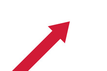 Red Arrow Directed Upwards. Business Concept Illustration. Vector