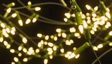 Abstract Background Of Out Of Focus Christmas Lights With Warm Light. 3d Rendering