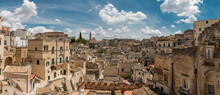 Aerial View Of Matera City On A Rocky Outcrop In The Region Of Basilicata, In Southern Italy