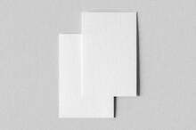 Textured Business Card Mockup, Vertical Orientation. 55x85 Mm.