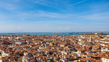 Red Tiled Roofs Of Venice As Viewed From St Marks Campanile