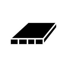 Flush Door Shutters Glyph Icon Vector. Flush Door Shutters Sign. Isolated Contour Symbol Black Illustration