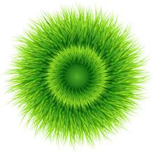 Eco Green Nature Circular Round Grass