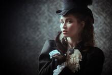 Elegant Lady Of The 19th Century