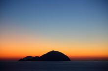 Filicudi Island Seen From Pollara, Salina, Aeolian Islands, Sicily, Italy