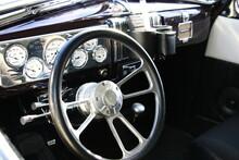 Vintage Car Interior Close-Up
