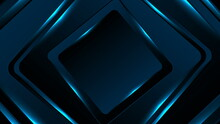 Neon Glowing Blue Squares Abstract Background