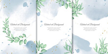 Hand Painted Watercolor Floral Background Collection