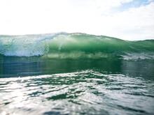 Approaching Backlit Breaking Wave