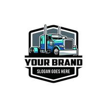 American Truck - Big Rig Isolated Logo Vector