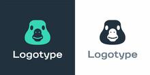 Logotype Goose Bird Icon Isolated On White Background. Animal Symbol. Logo Design Template Element. Vector