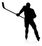 Ice Hockey Player Sports Silhouette