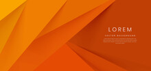 Abstract Orange Triangles Layers Background. Minimal Style.