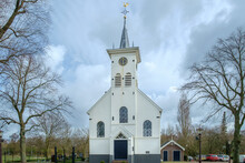 Schellingwoude In The Municipality Of Amsterdam, Noord-Holland Province, The Netherlands