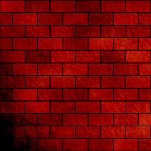 Brown And Red Brick Texture Watercolor Background. Gradient Brown And Red Brick Wall Texture Background. Fantasy Bricks Texture.