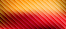 Abstract Red And Yellow Monochrome Stripe Pattern Design. Minimal Striped Surface Texture Background. Vector