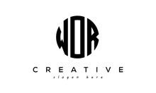 Letter WOR Creative Circle Logo Design Vector