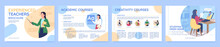 Online Learning Course Flat Vector Brochure Template