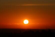 Feu, Soleil, Aube, Lever De Soleil, Orange, Noir, Splendeur, éblouissement, Lumière, Horizon, Paysage, Matin, Nuage, Ciel, Nature, Flamboiement, Rouge, Rêve, Beauté