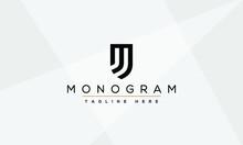 MJ, JJ Abstract Letters Logo Monogram Emblem
