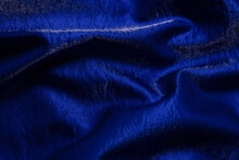 Purple Shiny Fabric As Background. Top View.