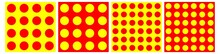 Pop Art, Polka Dots, Dotted, Circles Seamlessly Repeatable Pattern, Background, Texture