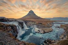Kirkjufell Mountain On Durin Sunrise,Iceland