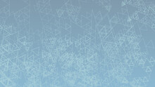 Chaotic Triangles On Silver Blue Background. Subtle Graphics