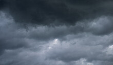 Gray Sky With Black Clouds