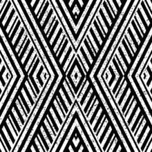 Grunge Seamless Pattern With Oblique Blck Lines
