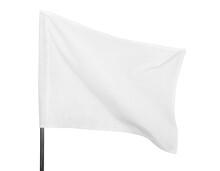 White Flag On Light Background