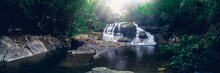 Travel Concept Of Khao Chamao Waterfall National Park Love Nature