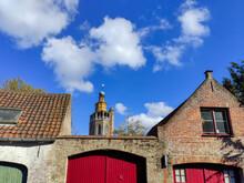 Tour De L'église De Jérusalem à Bruges Vue Depuis De Venkelstraat