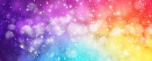 Sparkly Colorful Artistic Bokeh Lights In Colorful Gradient Background With Glitters And Sparkles