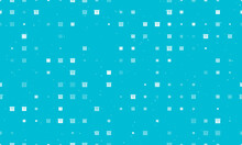 Seamless Background Pattern Of Evenly Spaced White Gift Box With A Question Symbols Of Different Sizes And Opacity. Vector Illustration On Cyan Background With Stars
