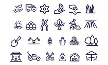 Agriculture And Farm,landscaping Icons Vector Design