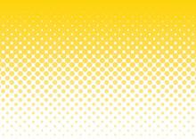 ハーフトーン 背景 黄色