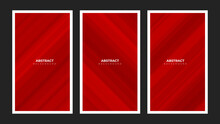 Set Of Modern Elegant Red Diagonal Stripes Lines Background, Clean Diagonal Stripes For A Modern Business Or Luxury Event Theme. Eps 10