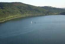 Sail Cruise On German Lake Bigge On A Summer Day