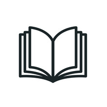 Book, Education, Literature, Library, Textbook, Study, Knowledge, Learning Vector Flat Icon For Web And Mobile App