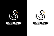 Swan Duck Silhouette Business Logo