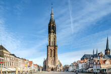 New Church On The Markt In Delft, Zuid-Holland Province, The Netherlands