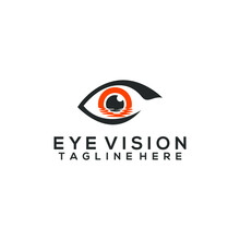 Eye Logo Concept Vector Isolated In White Background